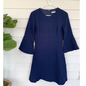 Trina Turk Fluted Sleeve Dress